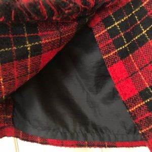 Express Jackets & Coats - Express | Vintage Wool Plaid Shawl Cape Cover